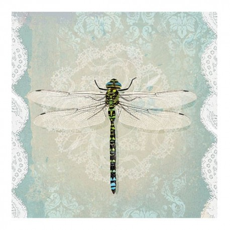 Servetel decorativ Romantic dragonfly