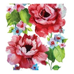 Servetel decorativ Watercolor Roses