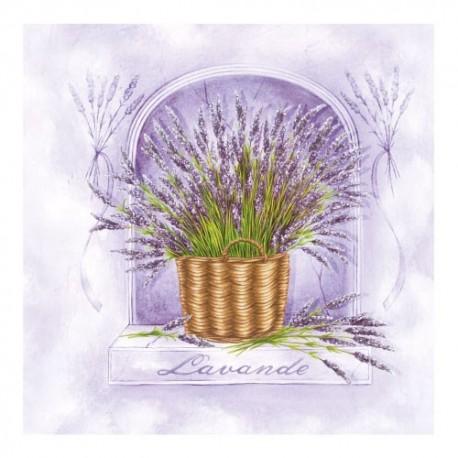 Servetel decorativ Lavander Garden violet