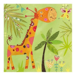 Servetel decorativ Happy Giraffe