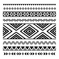 http://Servetel decorativ White-black Ethnic
