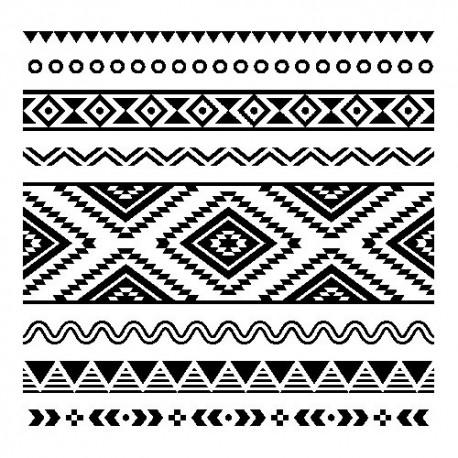 Servetel decorativ White-black Ethnic