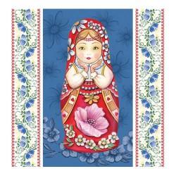 Servetel decorativ Matrioshka