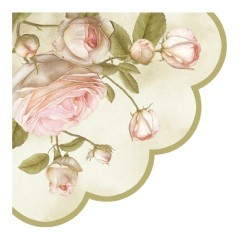 Servetel decorativ rotund Beauty Roses