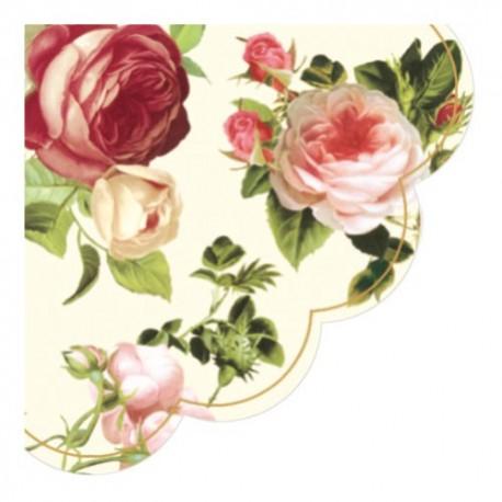 Servetel decorativ rotund Rosalia champagne