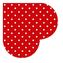 Servetel decorativ rotund hearts dots red