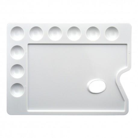 Paleta pictura plastic rectangulara 30x22 cm CWR
