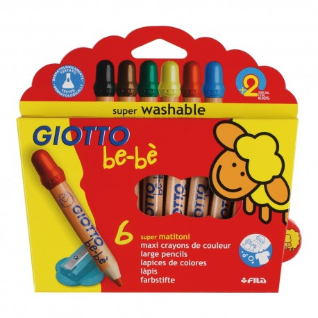 Set 6 creioane colorate Giotto Bebe