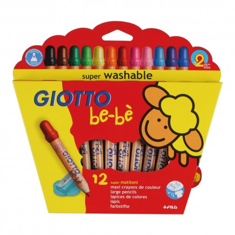 Set 12 creioane colorate Giotto Bebe