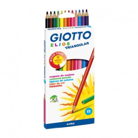 Set 12 creioane colorate Elios Giotto