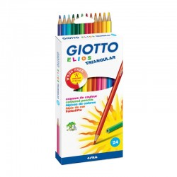 Set 24 creioane colorate Elios Giotto