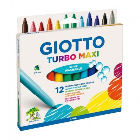 Set 12 carioci Turbo Maxi Giotto