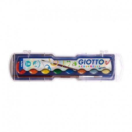 Set 8 pastile acuarela metalice Giotto