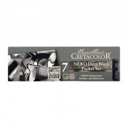 Set creioane Nero Deep Black Pocket Cretacolor