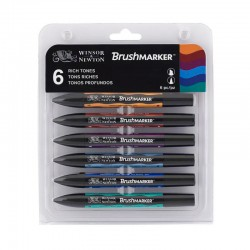 Set 6 Rich Tones BrushMarker Winsor & Newton