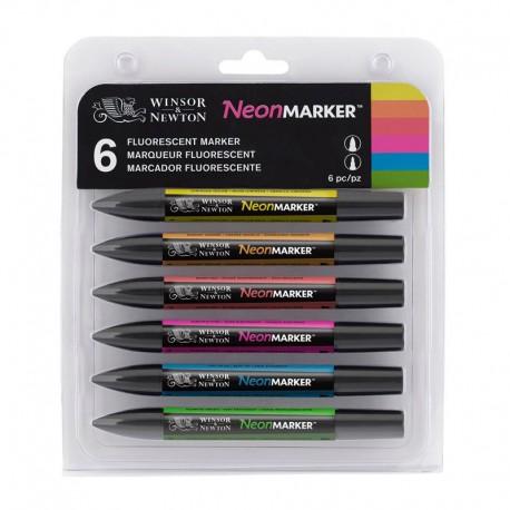 Set 6 NeonMarker Winsor & Newton