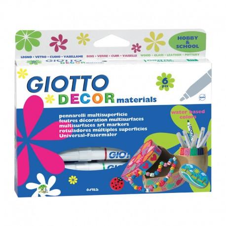 Set 5 markere Decor Metal Giotto