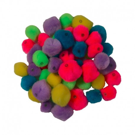 Pomponi colorati cu gaura