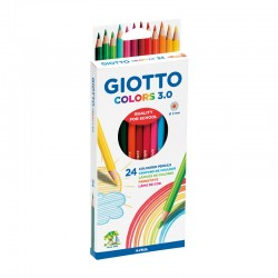 Set 24 creioane colorate Colors 3.0 Giotto