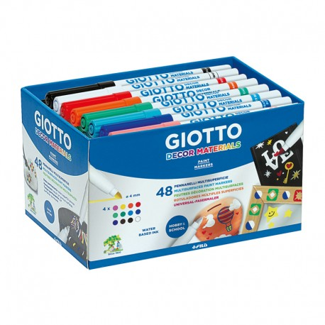 Set 48 markere Decor Materials Giotto