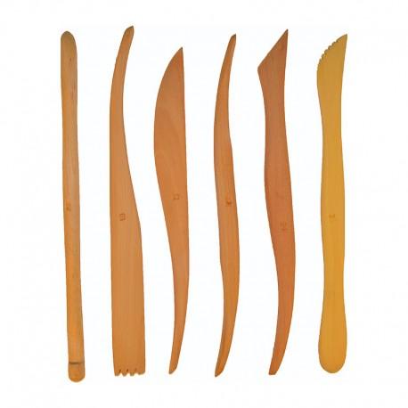 Set 6 ebosoare lemn