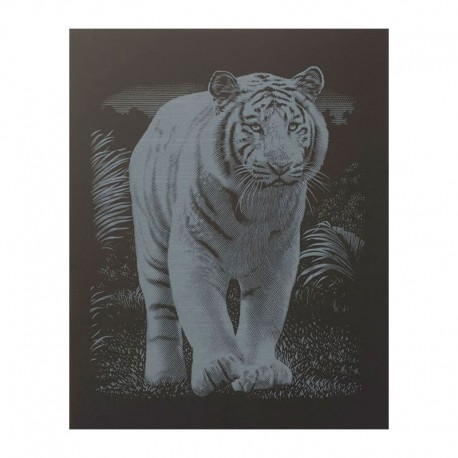 "PAINT BY NUMBERS JUNIOR KIT GRAVURA SILVER ""TIGER"""