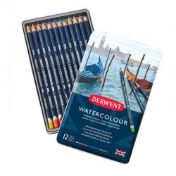 Set 12 creioane acuarela Watercolour Derwent