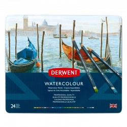 Set 24 creioane acuarela Watercolour Derwent
