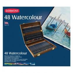 http://Cutie lemn 48 creioane acuarela Watercolour Derwent