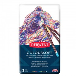 Set 12 creioane colorata Colorsoft Derwent