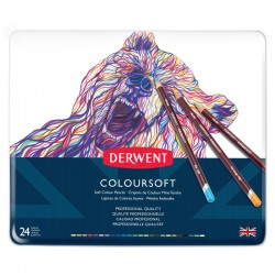 Set 24 creioane colorate Colorsoft Derwent