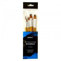 Set 7 pensule pictura acuarela Atelier