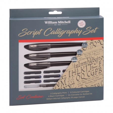 Set Script Calligraphy Oblique William Mitchell