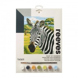 http://Pictura pe numere African Zebras Reeves