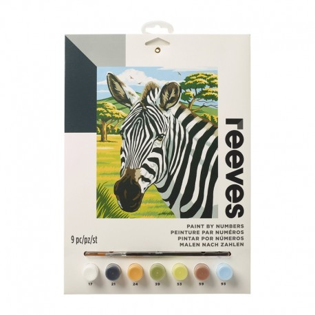 Pictura pe numere African Zebras Reeves