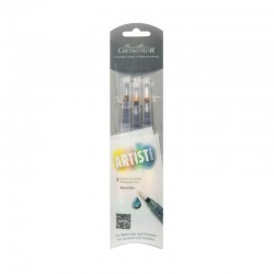 http://Set 3 waterbrush Aqua2Go Cretacolor