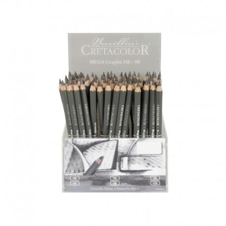 Display banc creioane Mega Graphite Cretacolor