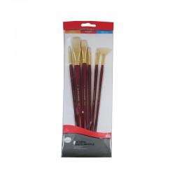 Set 6 pensule ulei Simply Daler Rowney