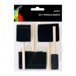 Set 4 pensule burete Atelier