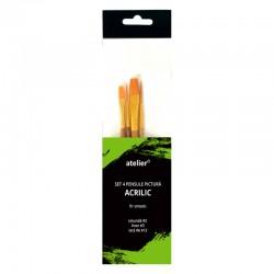 http://Set 4 pensule pictura acrilice Atelier