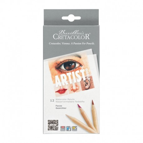 Set creioane acuarela Artist Faces Cretacolor