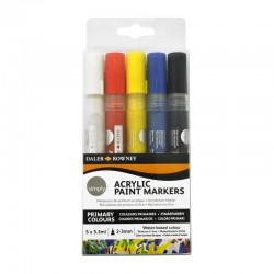 http://Set 5 marker acrilic Simply Daler Rowney