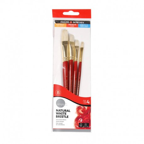 Set 4 pensule ulei Simply Daler Rowney